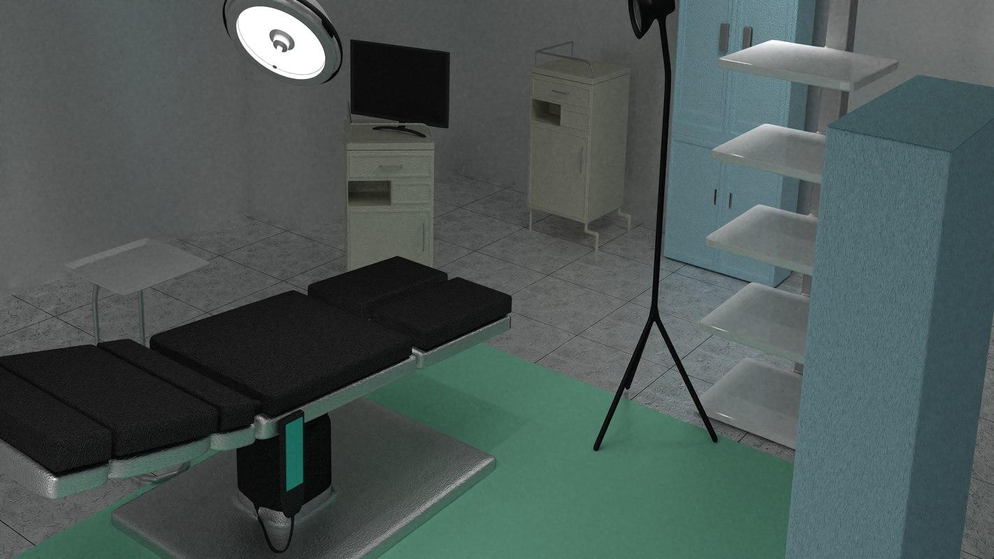 3D operating theatre model