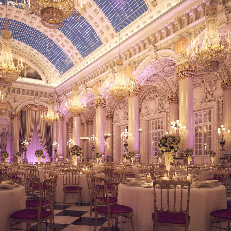 3D classical scene wedding hall