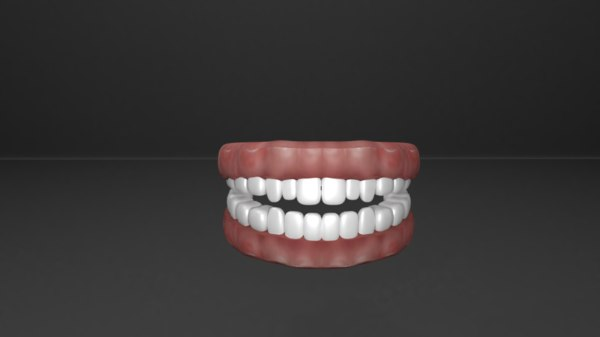 gum teeth 3D model