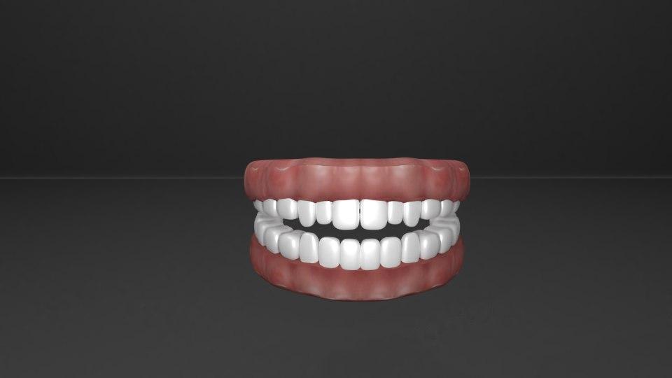 gum teeth 3D model