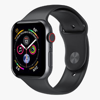 Apple Watch 4 Series Space Gray Aluminum Case with Black Sport Band
