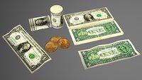 dollar banknot 3D model