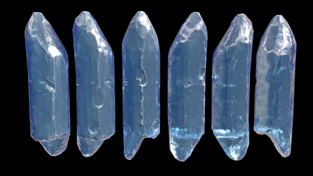 3D model crystal fragment