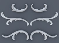 Baroque volutes pack