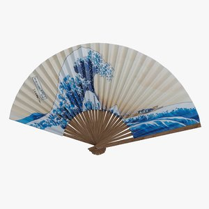 japanese fan 3D