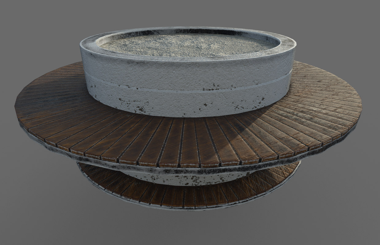 bench modeled pbr 3D model