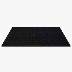 architectural rubber floor mat 3D