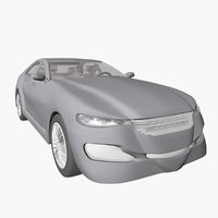 3D model conceptually sports car