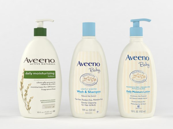 3D model aveeno baby gentle wash