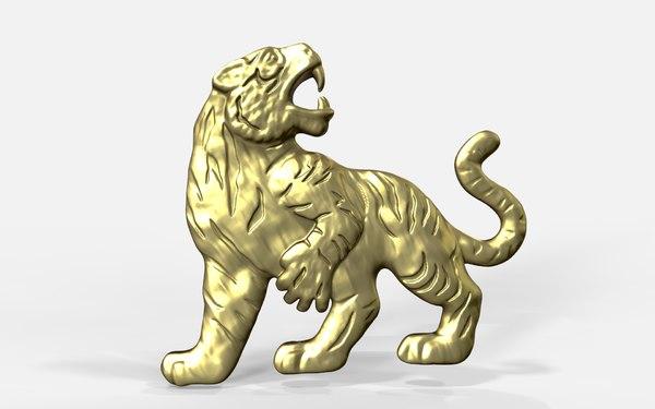 3D tiger pendant