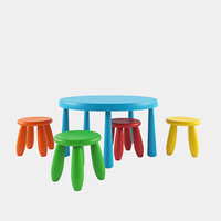 IKEA MAMMUT Round table and stools