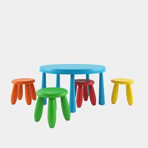 3D table stools mammut ikea model