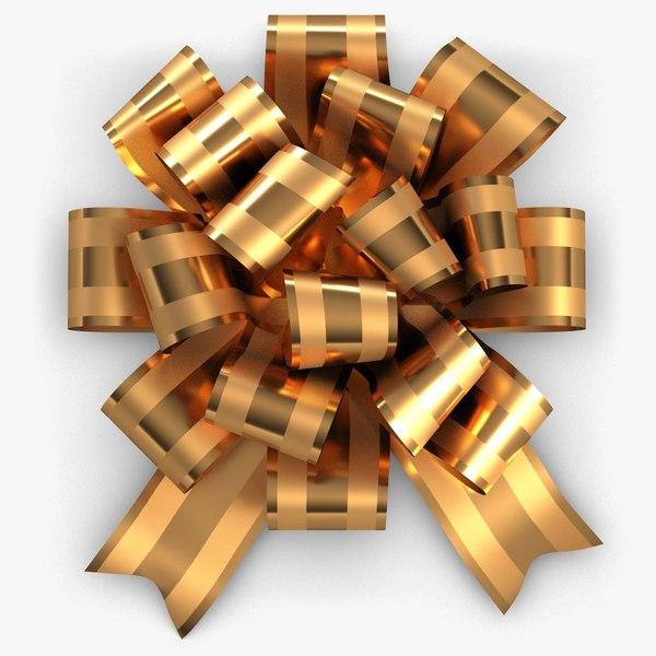 ribbon bow golden 1 model