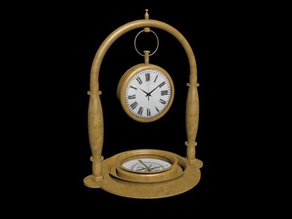 3D clock compass