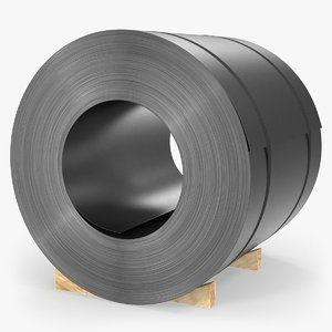 hot rolled steel coil 3D model