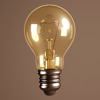 3D incandescent lamp lights