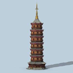 chinese tower 3D model