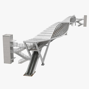 modern pedestrian bridge israel model