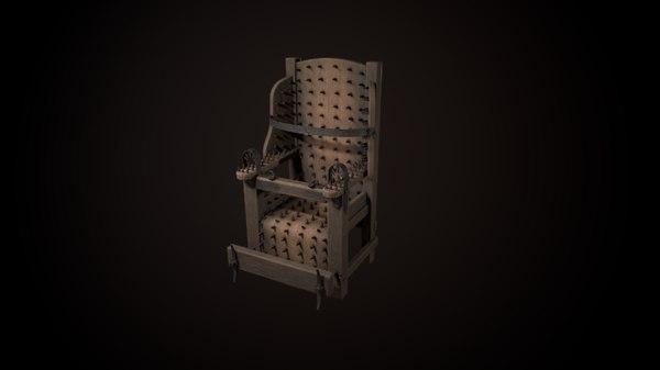 torture chair 3D model