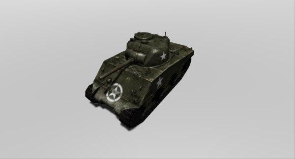 tank wwii m4a3 sherman 3D model