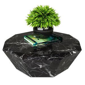 coffee table diamond 3D