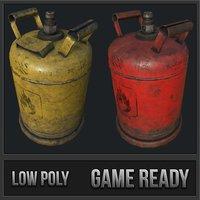 3D propane gas cylinder pbr model