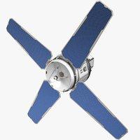 sci-fi satellite general 3D model