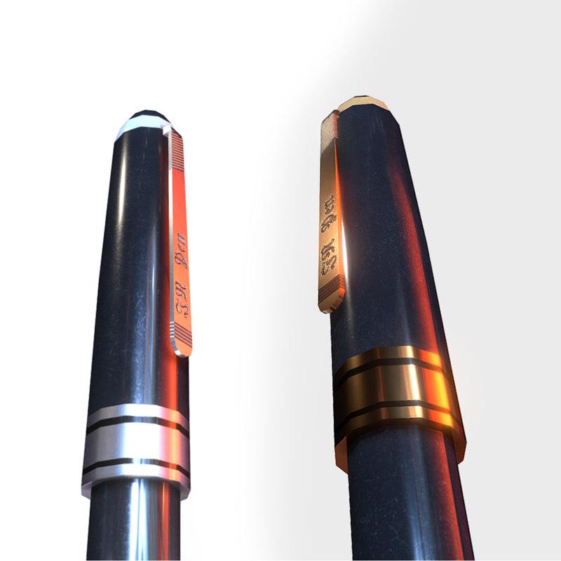 3D black pen silver glod