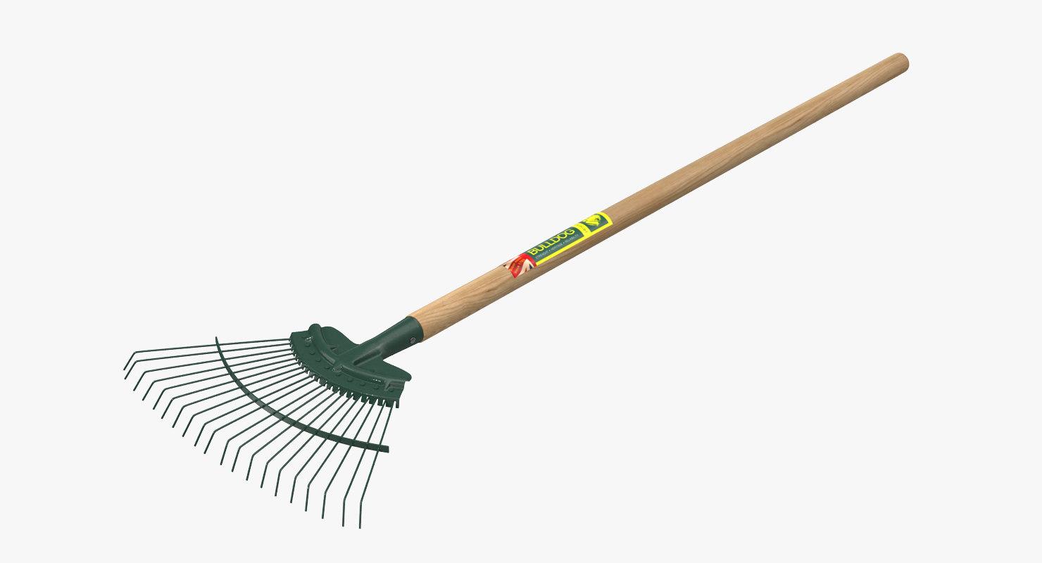 3D springbok rake bulldog gardening model