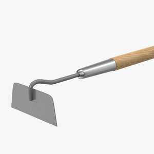 stainless steel draw hoe 3D model
