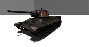 3D tank wwii t34-76