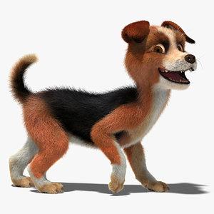 3D character rig dog model