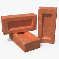 various red bricks 3D model