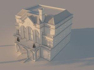 classic stand villa 3D