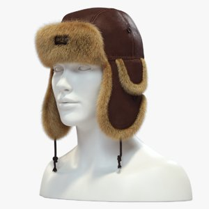 3D trapper hat model