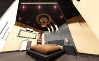 3D model bedroom modern