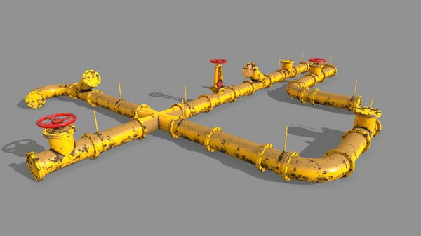 3D clamp pipe set model