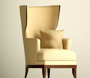 3D vendome armchair