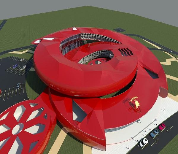 museum concept car 3D