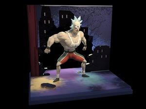 3D steroid rick model