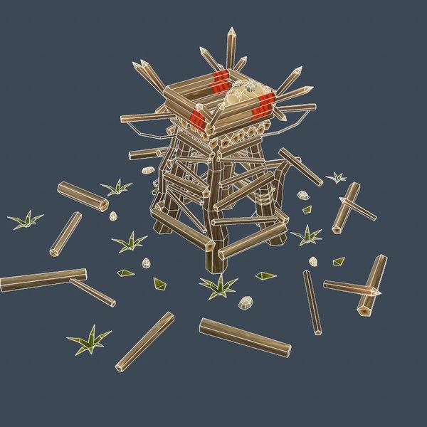 assets buildings structures prehistoric 3D model