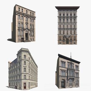 3D model 4 historic interior exterior