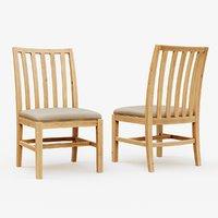 3D classic wooden chair