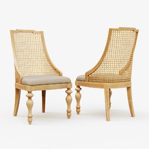 3D model classic wooden chair