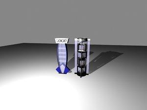 3D dixis glass shop vitrins