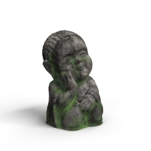 3D model buddha statue decor