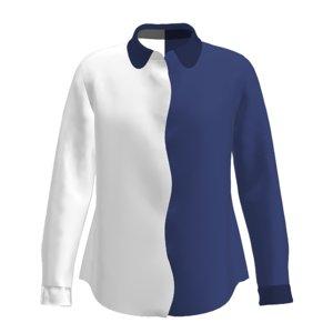 women s wavy shirt 3D