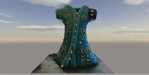 3D realistic caftan dress
