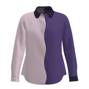 women s wavy shirt 3D model