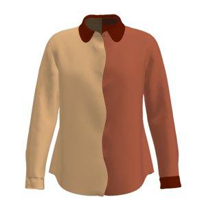 3D women s wavy shirt model